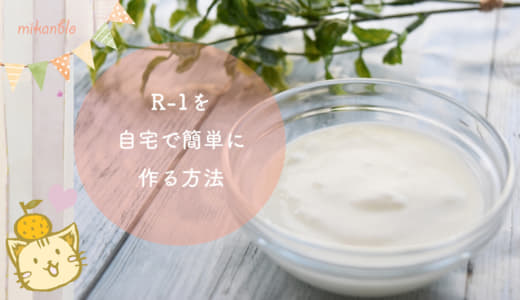 【神レシピ】ヨーグルトメーカを使ったR1の作り方!上手く作るコツと注意点